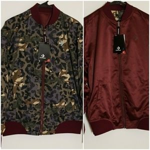 2 FOR 80 Converse Bomber Jacket  Reversibl…